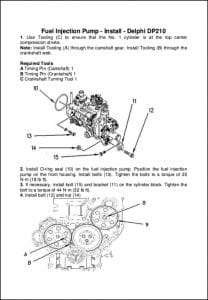 Delphi DP210 diesel Injection Pump Installation Guide