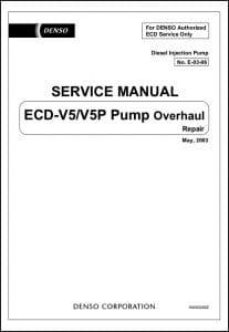 Denso ECD-V5 Diesel Injection Pump Service Manual
