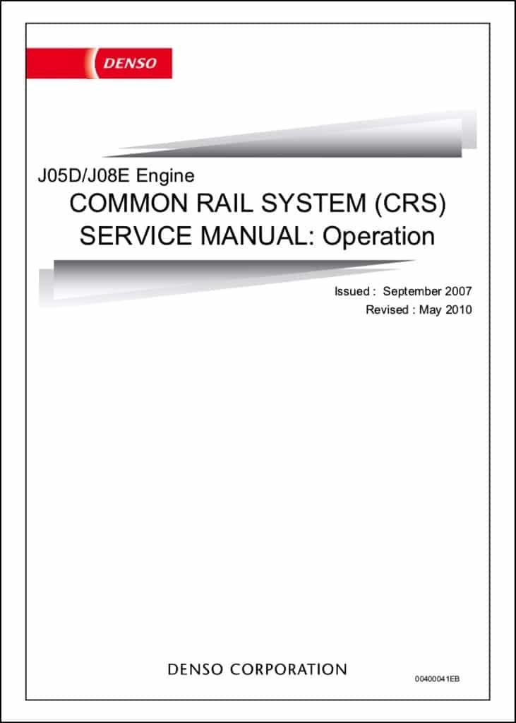 Denso J05D Common Rail Service Manual