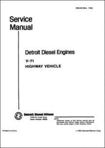 Detroit 8V71 Diesel Engine Service Manual