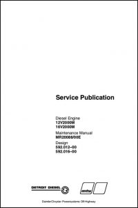 Detroit Diesel 12V2000N Maintenance Manual
