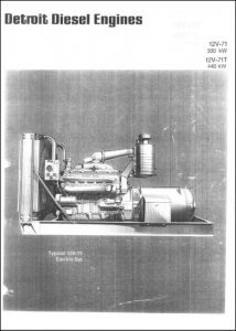 Detroit Diesel 12V71 Gen Set Brochure