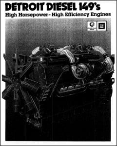 Detroit Diesel 149 diesel engine information Brochure