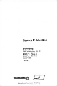Detroit Diesel 6V183T Workshop Manual
