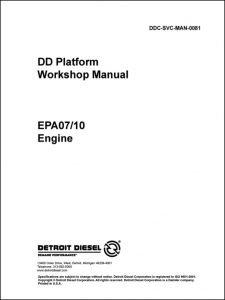 Detroit Diesel DD diesel engine Platform Workshop Manual