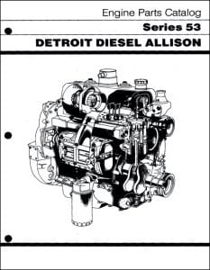 Detroit Diesel Series 53 Parts manual 1987