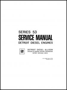 cover of Detroit Diesel Series 53 Service Manual