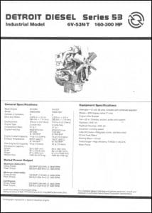 Detroit Diesel Series 53 diesel engine general specifications