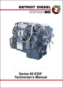 Detroit Diesel Series 60 EGR Diesel Engine Technician Manual