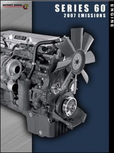 Detroit Diesel Series 60 diesel Engine Emissions 2007 Information Booklet