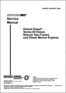 Detroit Diesel Series 60 Diesel Engine Service Manual