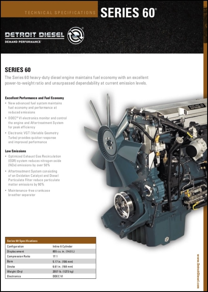 Detroit Diesel Series 60 >> Detroit Diesel Series 60 Diesel Engine Technical