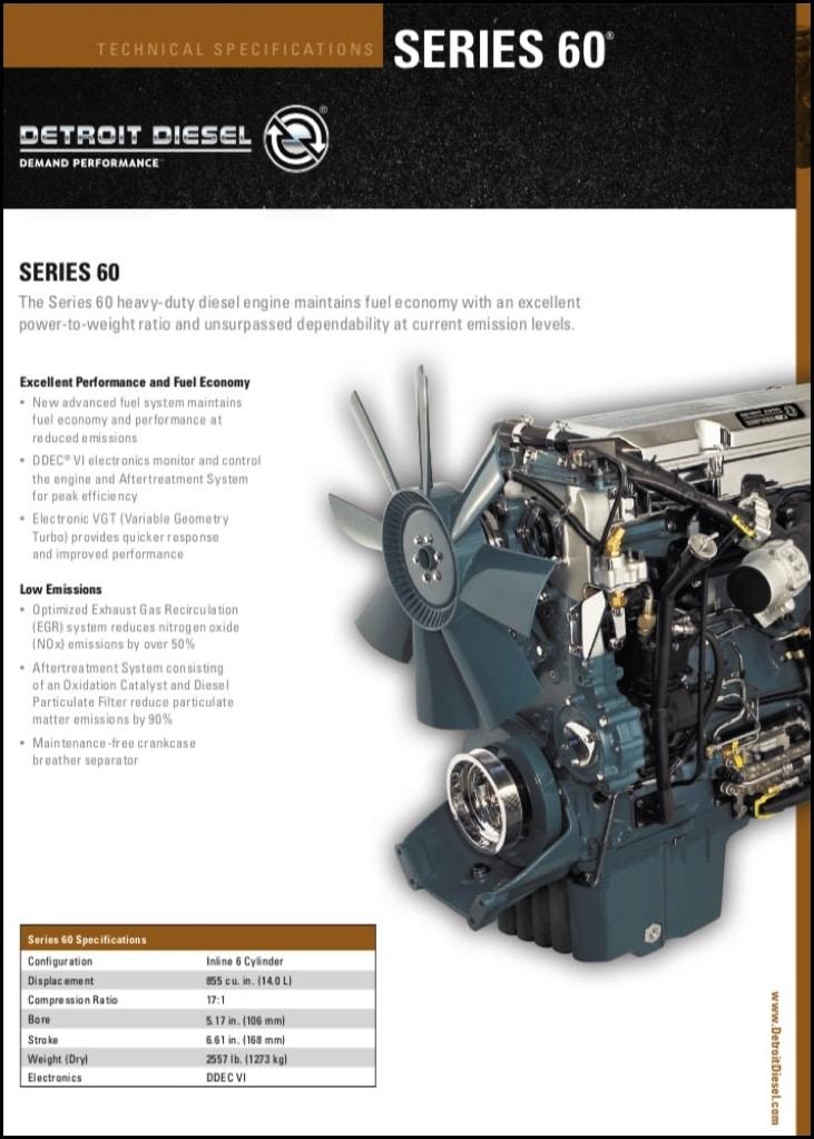 Detroit Diesel Series 60 Diesel Engine Technical