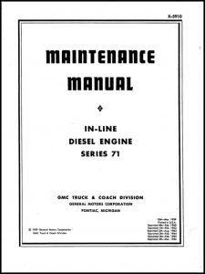 cover of Detroit Diesel Series 71 Maintenance Manual