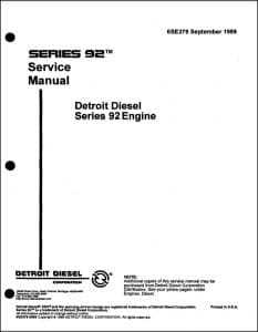 Detroit Diesel Series 92 Service Manual1999