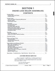 Detroit Diesel V92 Series Service Manual 1988