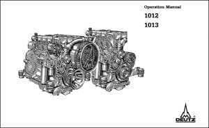 Deutz diesel engine 1012 Operators manual