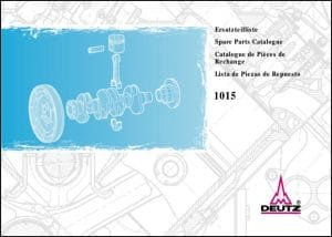 Deutz 1015 Spare Parts Catalogue