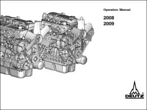 Deutz 2008 diesel engine Operation Manual
