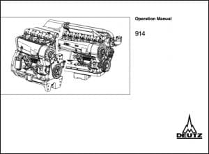 Deutz 914 Diesel Engine Operation Manual