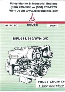Deutz FL911 series diesel engines Workshop manual