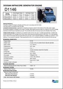 Doosan D1146 diesel engine Brochure