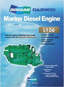 Doosan L136 marine diesel engine Brochure