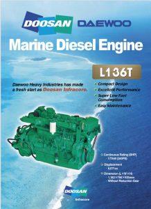 Doosan L136T marine diesel engine Brochure