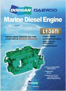 Doosan L136TI marine diesel engine Brochure