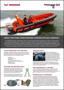 Dtorque Yanmar 111 diesel outboard Brochure