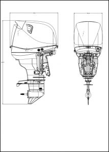 Dtorque Yanmar 111 diesel outboard Technical Drawings