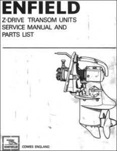 Enfield Z Unit Marine Gearbox (Sterndrive) Models 130 Service Manual & Parts List