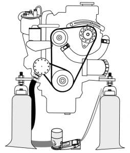 마린 디젤 엔진 프론트 (c)