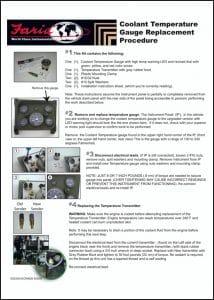 Faria Coolant Temperature Gauge Replacement Procedure