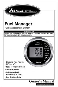 Faria Fuel Manager Owners Manual