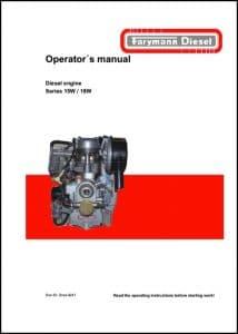 Farymann diesel engine 18W Operators manualFarymann diesel engine 18W Operators manual