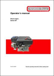 Farymann 43F diesel engine Operator's Manual