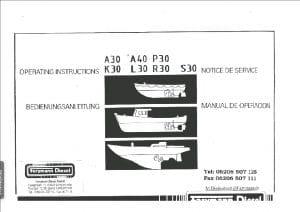 Farymann diesel engine A30 Operation