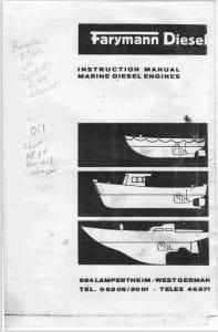 Farymann marine diesel engine A30M Instruction Manual