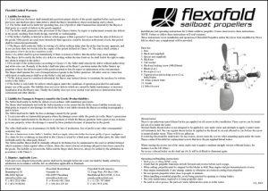 Flexofold 2 blade marine propeller Installation Guide