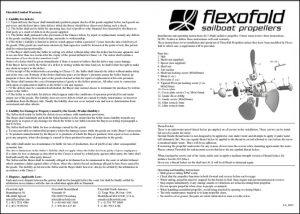 Flexofold 3 blade Saildrive Installation Guide