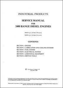 Ford 2400 Range Service Manual