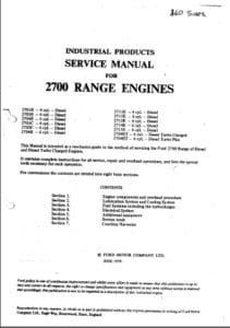 Ford 2700 Workshop Manual