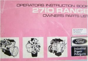 Ford 2710 Series Operators Instruction Book
