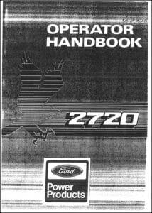 Ford 2720 Diesel Engine Operator Manual