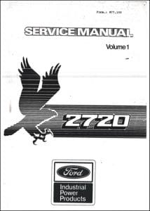 Ford 2720 Diesel Engine Service Manual Sections 1, 2