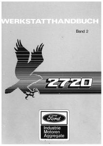 Ford 2720 vol2 Workshop German Werkstatthandbuch