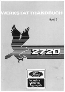 Ford 2720 vol3 Workshop German Werkstatthandbuch