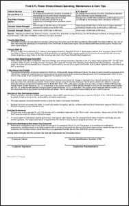 Ford 6.7L diesel engine Care Tips