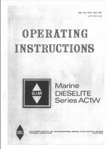 GandM AC1W Operation